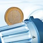 1-Euromünze im Heizungsgriff