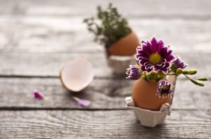 Oster-Basteltipps - Blume in Ei