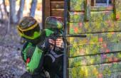 Spiel der bunten Kugeln: Paintball